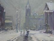 Arthur Clifton Goodwin Copley Square oil painting