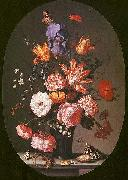 Balthasar van der Ast Flowers in a Glass Vase oil painting