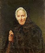 Carl d Unker Old Woman with a Rosary oil