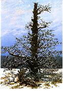 Caspar David Friedrich Oak Tree in the Snow oil painting reproduction