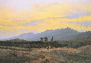 Caspar David Friedrich Klosterruine Eldena und Riesengebirge Spain oil painting artist