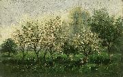 Charles Francois Daubigny Apple Trees in Blossom oil