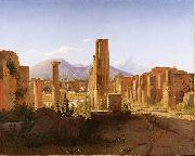 Christen Kobke The Forum, Pompeii, with Vesuvius in the Distance oil