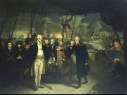 Daniel Orme Duncan Receiving the Surrender of de Winter at the Battle of Camperdown, 11 October 1797 oil painting