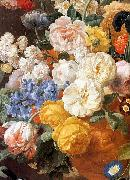 ELIAERTS, Jan Frans Bouquet of Flowers in a Sculpted Vase oil