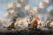 Esaias Van de Velde The burning of the English fleet off Chatham oil painting artist