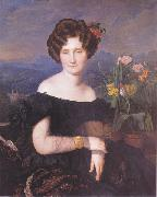Ferdinand Georg Waldmuller Portrait of Johanna Borckenstein oil painting