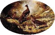 Ferdinand Richardt Grouse Family oil painting reproduction