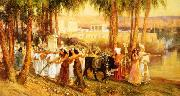 Frederick Arthur Bridgman Procession in Honor of Isis oil painting artist