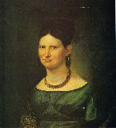 Georg Friedrich Kersting Dame mit Schal oil painting reproduction
