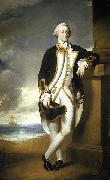 George Dance the Younger Portrait of Captain Hugh Palliser oil painting