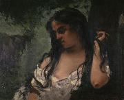 Gustave Courbet Gypsy in Reflection Spain oil painting artist