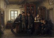 HOFFMANN, Hans Farmers in a Barrelhouse oil painting artist