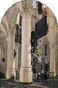 HOUCKGEEST, Gerard tomb of Willem I in the Nieuwe Kerk in Delft oil painting artist