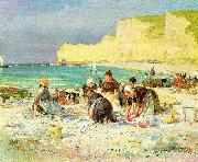 Henry Bacon Etretat, oil painting artist