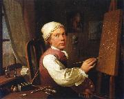 Jens Juel Self portrait oil