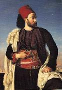 Leon Benouville Portrait of Leconte de Floris in an Egyptian Army Uniform oil painting artist