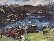 Lovis Corinth Walchensee, Landscape with cattle oil painting reproduction