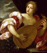 MICHELI Parrasio Young Woman Playing a Lute oil painting artist