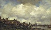 Maris, Jacob Village near Schiedam oil painting artist