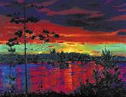 Nikifor Krylov Rylov Sunset oil painting artist