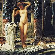 Sir Edward john poynter,bt.,P.R.A Diadumene, Dimensions and material of painting oil painting artist