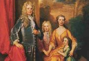 Sir Godfrey Kneller and his family oil painting artist