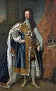 Sir Godfrey Kneller Portrait of King William III of England (1650-1702) in State Robes oil painting artist