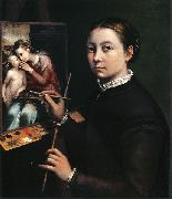 Sofonisba Anguissola Easel Painting a Devotional Panel oil painting reproduction