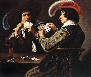 Theodoor Rombouts Card Players oil painting artist