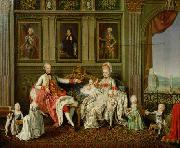 Wenceslaus Werlin GroBherzog Leopold mit seiner Familie oil painting reproduction