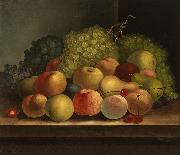 William Buelow Gould Still life, fruit oil on canvas painting by Van Diemonian (Tasmanian) artist and convict William Buelow Gould oil painting artist