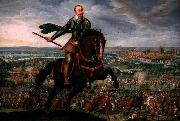 unknow artist Gustavus Adolphus of Sweden at the Battle of Breitenfeld Spain oil painting artist