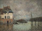 unknow artist L inondation a Port Marly oil painting reproduction