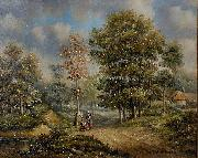 unknow artist Walk in the woods oil painting reproduction