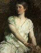 Abbot H Thayer Young Woman oil