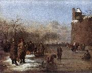 Adriaen van de Velde Amusement on the Ice oil painting artist