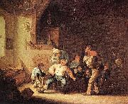 Adriaen van ostade Barber Extracting of Tooth. oil