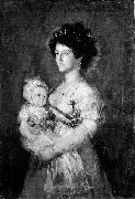 After Francisco de Goya Queen of Etruria and her son Charles of Parma oil painting