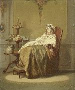 Alexander Hugo Bakker Korff An Afternoon Nap oil painting