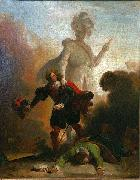 Alexandre-Evariste Fragonard Don Juan and the statue of the Commander oil painting