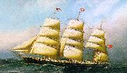 Antonio Jacobsen The British ship oil painting artist