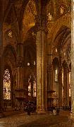 Arturo Ferrari Interior of Milan Cathedral oil painting