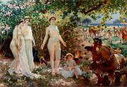 Attilio Simonetti The Judgement of Paris oil painting