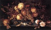 Balthasar van der Ast Still life with Dish of Fruit oil painting