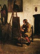 Barent fabritius Young Painter in his Studio oil