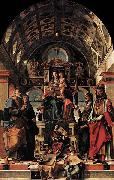 Bartolomeo Montagna Madonna and Child Enthroned with Saints oil