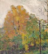Bernhard Folkestad Deciduous trees in fall suit with cuts oil painting