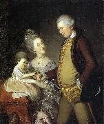 Charles Willson Peale Portrait of John and Elizabeth Lloyd Cadwalader and their Daughter Anne oil