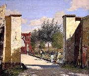 Christen Kobke The North Gate of the Citadel oil painting artist